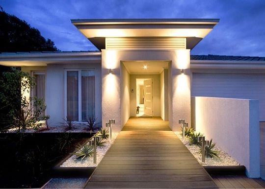 Applique Esterno Moderno : Ingresso esterno casa moderna idee ingresso esterno casa con