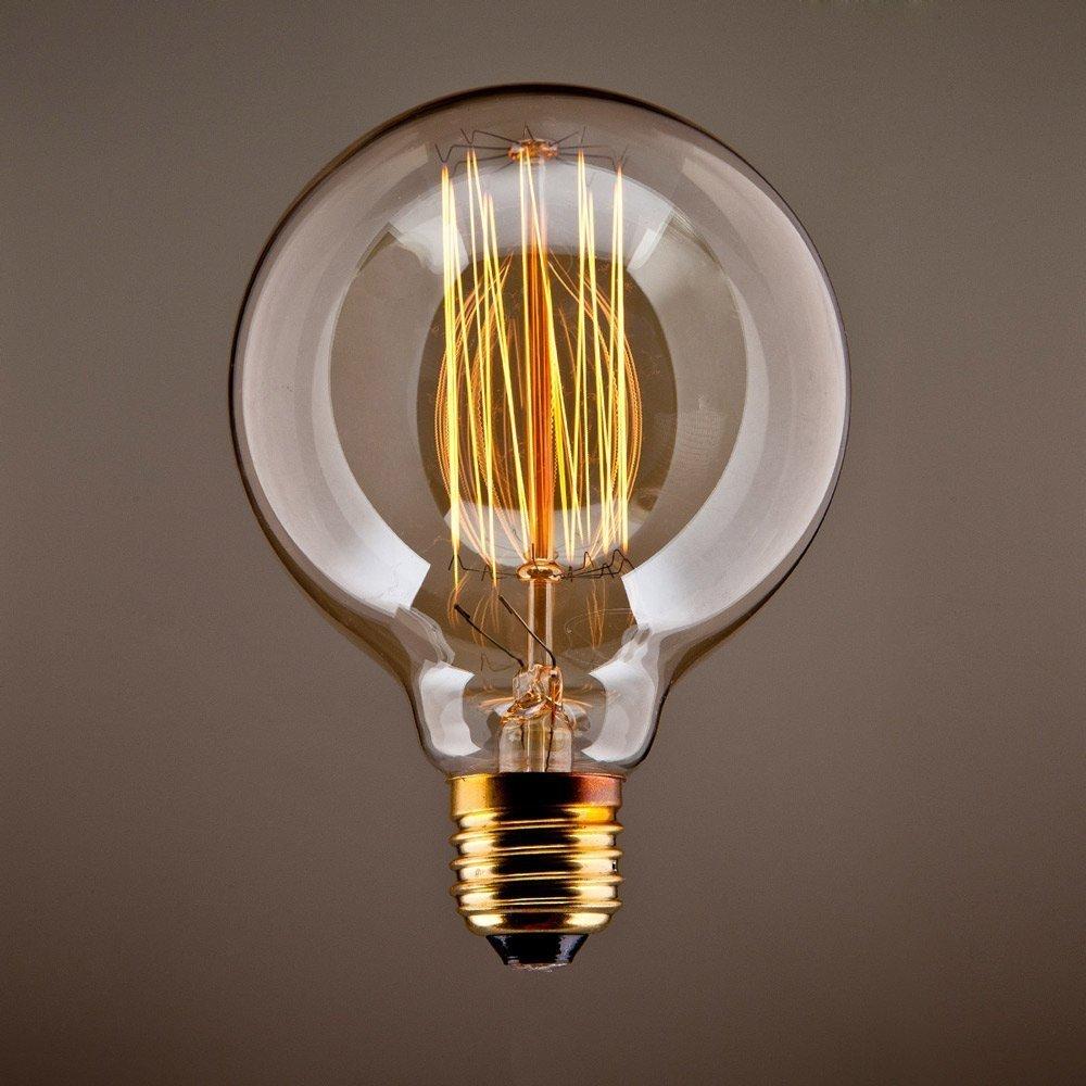... - Lampada Decorativa Globo Filamento Vintage E27 Vecchio Edison G125