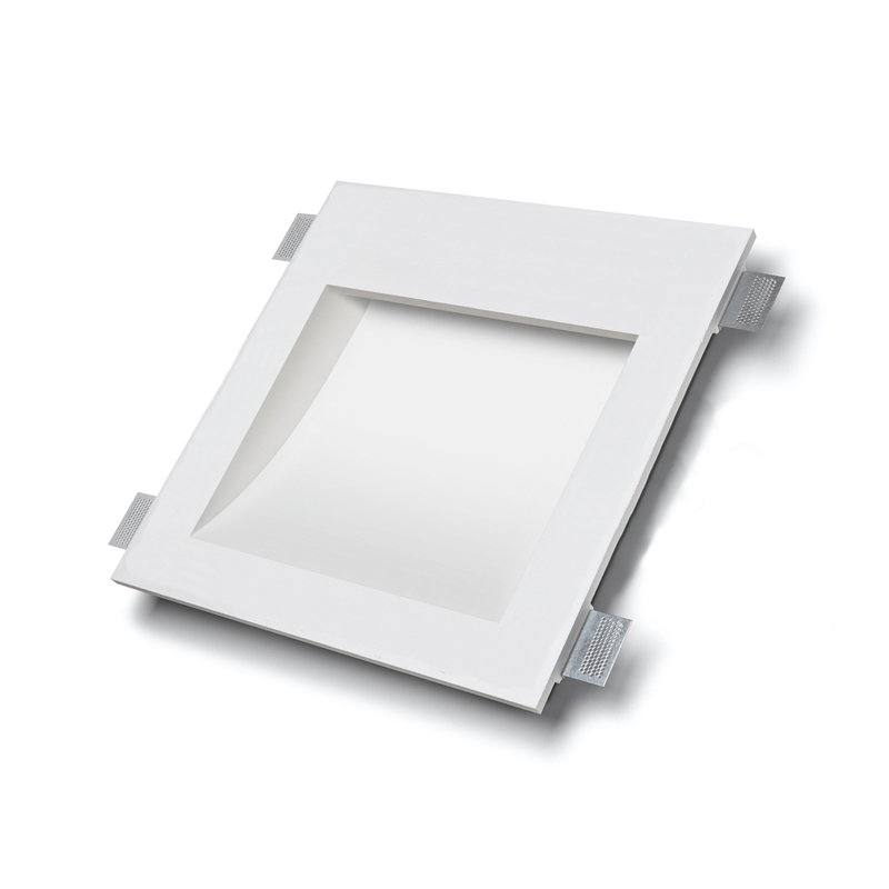 PLAFONIERA E APPLIQUE IN GESSO INCASSO A SCOMPARSA PER LED GU10