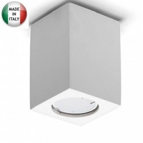 Porta Faretto in Gesso Cubo Slim Gu10 Led